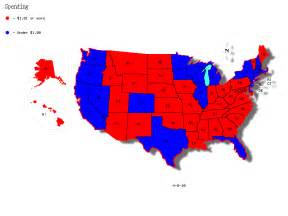 And comparing this to a chart showing which states voted for barak