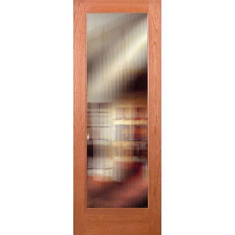 Interior Cherry Doors Feather River Doors 32 In X 80 In Reed Woodgrain 1 Lite Unfinished Cherry Interior Door Slab