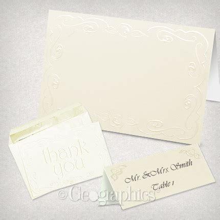 ivory printable wedding invitation kits ivory rose embossed printable invitation kit 45583 geographics