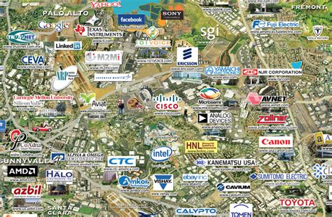 silicon valley usa map the swarming of silicon valley ca musings on maps