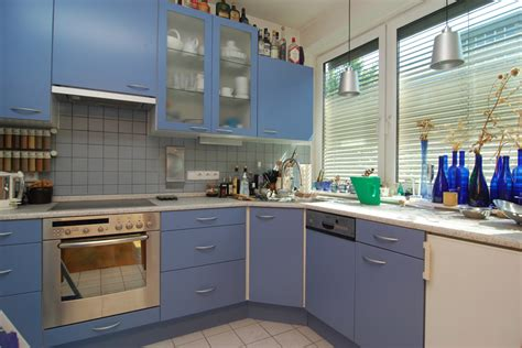 White And Blue Kitchen Cabinets 27 Blue Kitchen Ideas Pictures Of Decor Paint Cabinet Designs Designing Idea