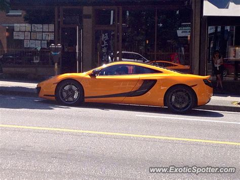mclaren vancouver mclaren mp4 12c spotted in vancouver canada on 07 30 2013