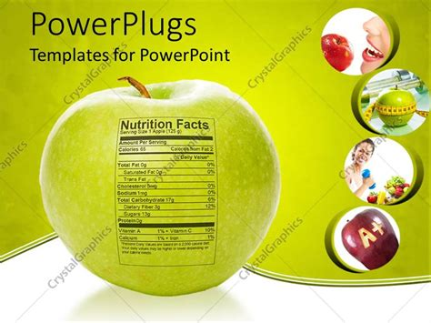 Powerpoint Template Apple Nutrition Facts Apple With Measuring Tape A Apple Delicious Red Free Nutrition Powerpoint Templates
