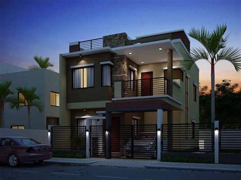 new home designs 2017 two floor houses with 3rd floor serving as a roof deck