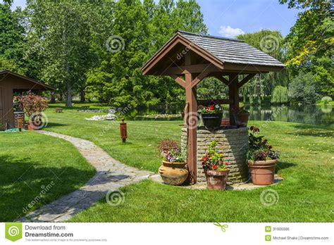 Garden Well by Wishing Well Stock Photo Image Of Well Pond Beautiful