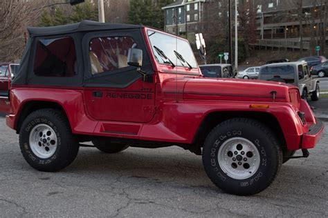 1991 jeep wrangler yj vehicle of the week jeep wrangler yj renegade go4x4it