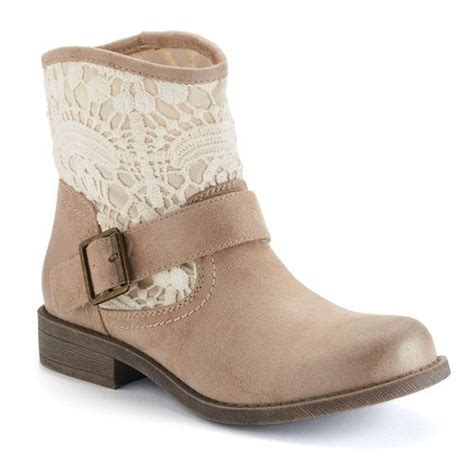 crochet ankle boots mudd 174 s crochet ankle boots kohls let s get some