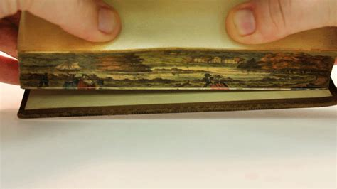 edge of books secret fore edge paintings revealed in early 19th century