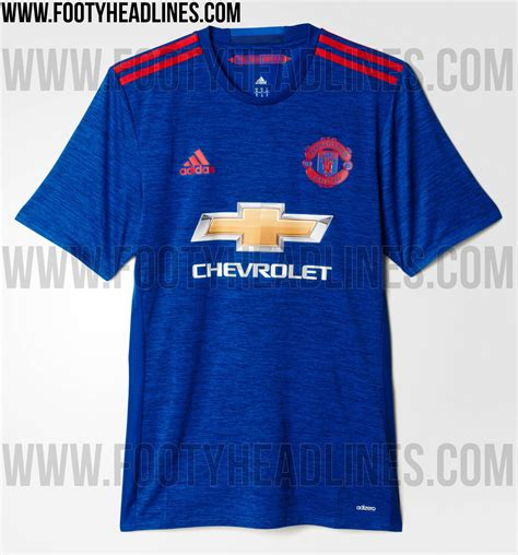 Tshirt Manchester City Biru by Manchester United 16 17 Away Kit Released Footy Headlines
