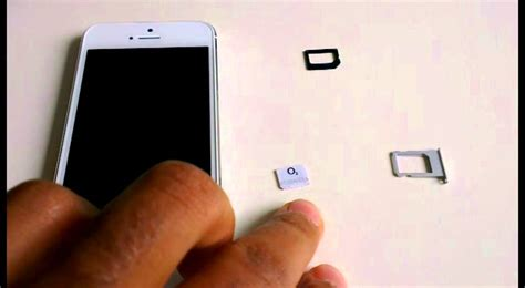 Cutting A Sim Card To Fit Iphone 5 Template by Cut Micro Sim Card To Nano Sim Card For Iphone 5 Scissors