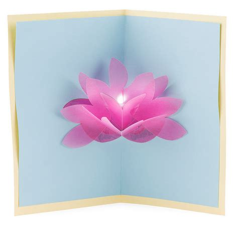 lotus flower pop up card template free resources learn sparkfun