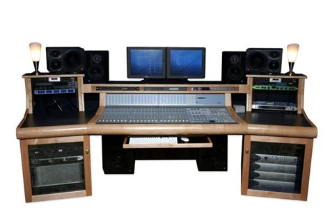 A Custom Recording Studio Desk That Looks Like It Has Recording Studio Desk