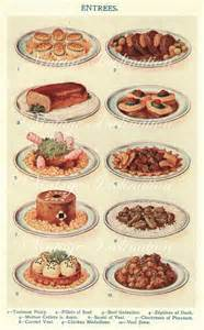 early 1900s mrs beeton cooking print antique by vintageinclination