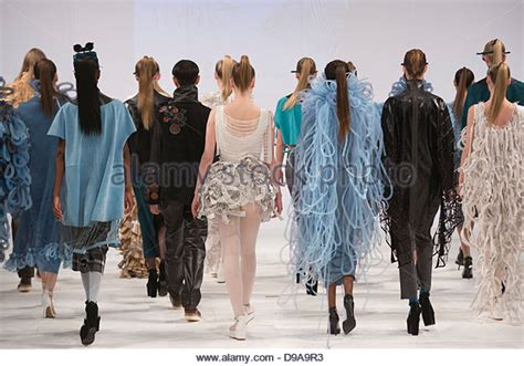 Catwalk Talks To Students At The College Of Fashion Ma Show by Of Northton Uk Stock Photos Of