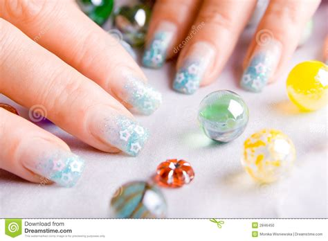 Decorated Nails by Decorated Nails Stock Photo Image 2846450