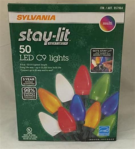 sylvania stay lit platinum led indooroutdoor christmas