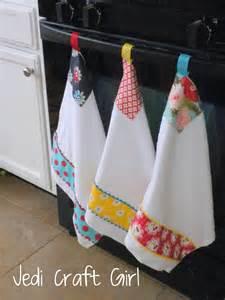 Jedi craft girl kitchen towel makeover