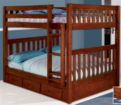 full size bunk beds 2815 mission full over full bunk bed bed frames