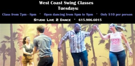 West Coast Swing Group Class 7 00pm Studio Live 2 Dance