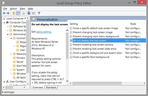 remove windows  lock screen  registry