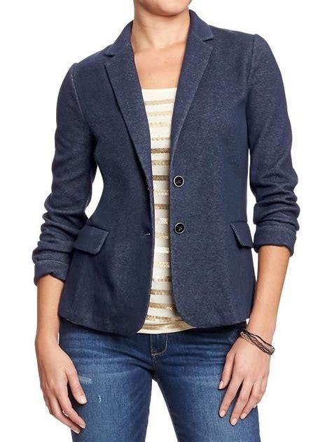 womens knit blazer blazer blazers and navy on
