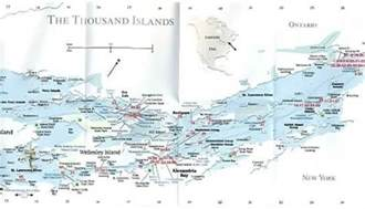 thousand islands canada map the thousand islands