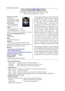 Curriculum Vitae Translation by Han Li Resume English Chinese Translation Editing