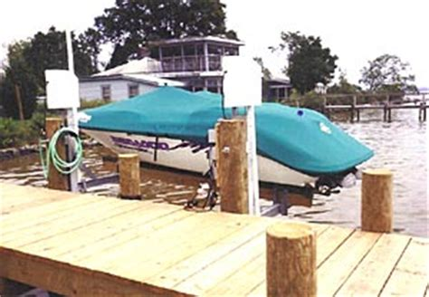 boat lift piling spacing boatlifts personal watercraft pwc low profile boat