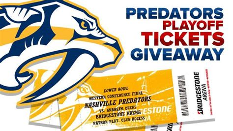 predators playoffs tickets giveaway newschannel 5 nashville - Nashville Predators Giveaway Schedule