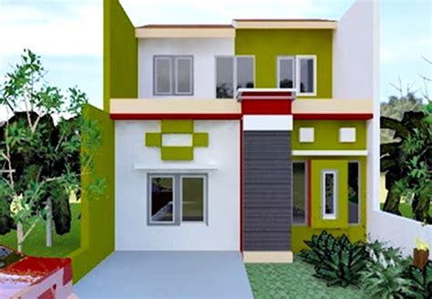 Handuk Tanggung Warna Hijau Dan Hijau Muda rumah minimalis dengan kombinasi warna cat hijau dan putih