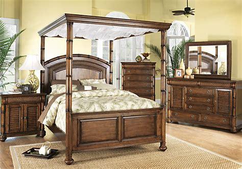cindy crawford bedroom sets cindy crawford home key west dark pine canopy 6 pc king