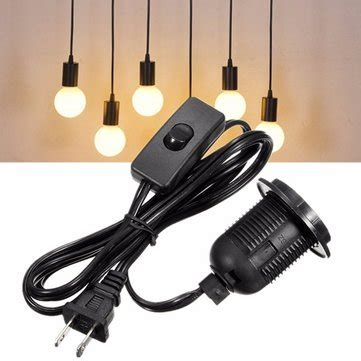 electric cord with bulb sockets e26 e27 light bulb socket l holder 250v with 1 5m power cable cord sale banggood