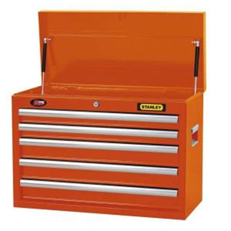 Stanley 5 Drawer Tool Chest by Stanley 26 In 5 Drawer Wide Tool Chest Orange H5chso