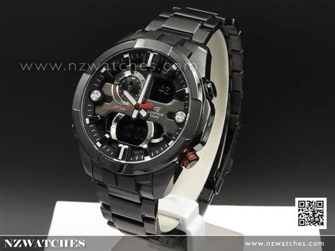 Casio Edifice Era 201bk 1av buy casio edifice thermometer alarm world time all black