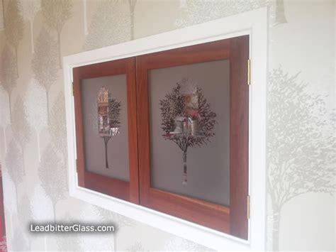 glass kitchen hatch doors sandblasted glass trees bristol