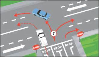 st on left or right california driver handbook turns