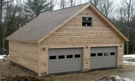Cabin Plans With Garage by Rustic Log Siding Log Siding Garage Plans Log Garage