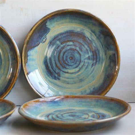Handmade Stoneware Dinnerware Sets - ceramic dinnerware dishes rustic water color glaze