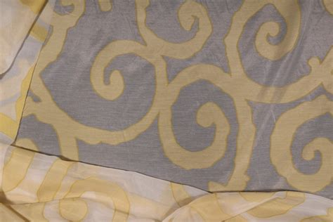 polyester drapery fabric designer polyester sheer drapery fabric in citrine 120 wide