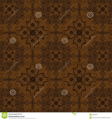 brown flowers vintage style wallpaper stock image image