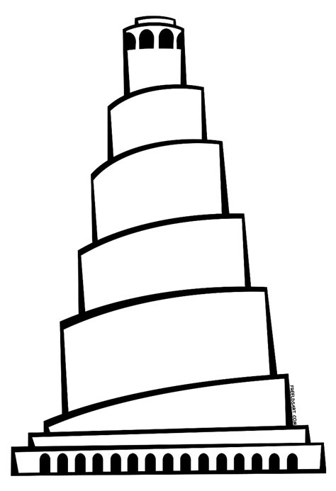 Towers Coloring Pages tower of babel clip tower of babel clip towers
