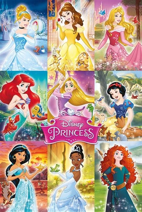 disney princess collage poster sold at europosters