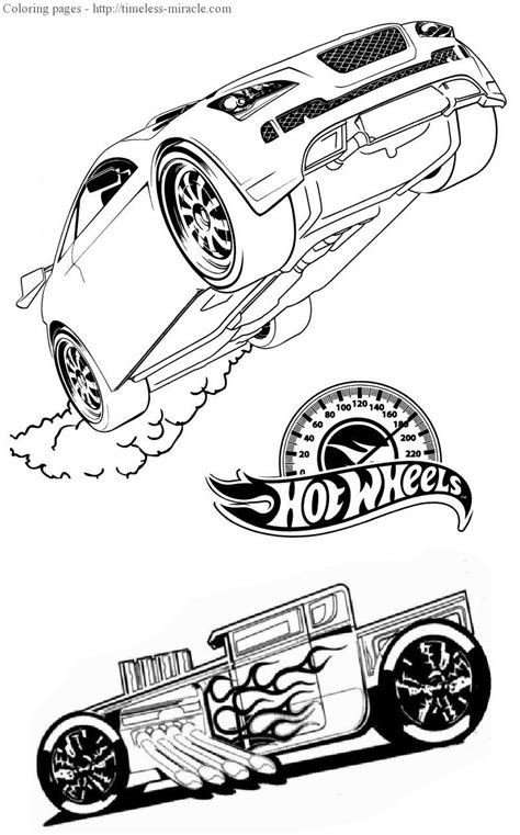 hot wheel book page coloring pages