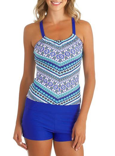 Printed Swimsuit Shorts s printed top boy swimsuit blue white