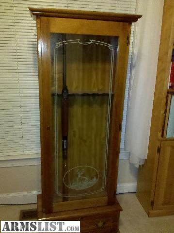 Glass For Gun Cabinet Door Armslist For Sale Wooden Gun Cabinet With Glass Door 125 Monkey Junction