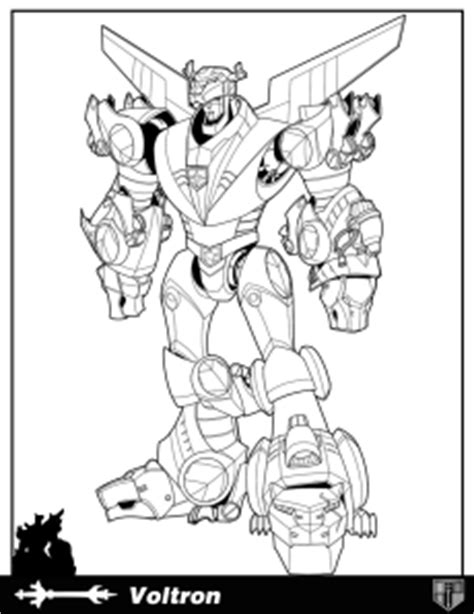 coloring pages voltron force