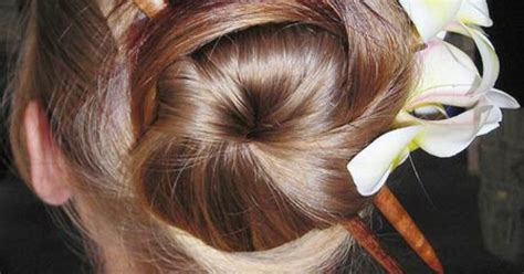 Chopstick Bun   Braid Bun and Ponytail Hairstyles   Pinterest   Hair style, Bun hair and Amazing