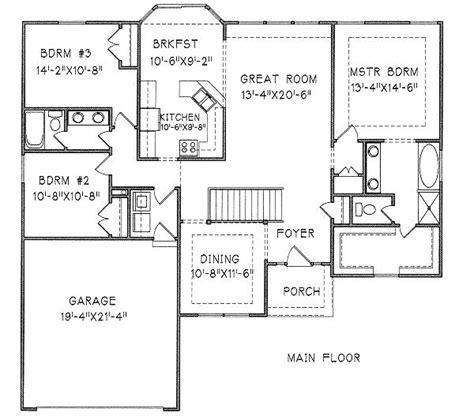 split floor plan ranch split bedroom ranch 16018pn architectural designs
