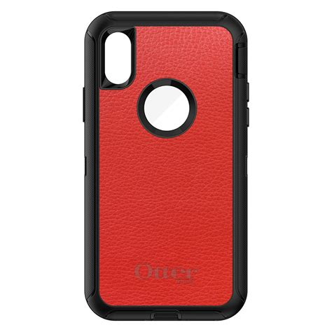 otterbox defender for iphone 7 8 plus x xs max xr leather texture ebay