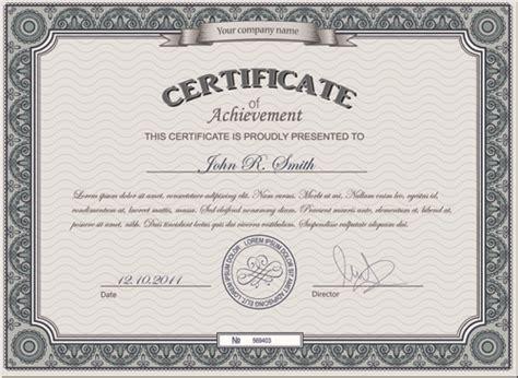 certificate design font free download best certificates design vector set 08 vector cover free